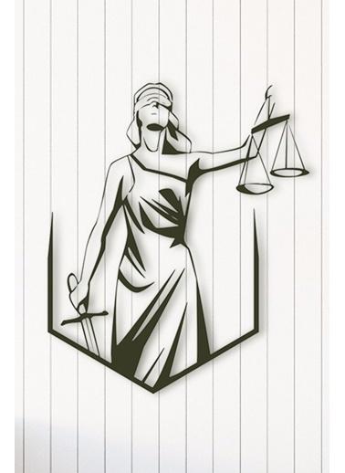 Angemiel Home Adalet Terazi Metal Duvar Tablosu Siyah